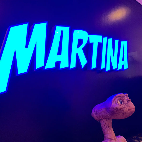 Cartel de letras Iluminadas con Led RGB Martina